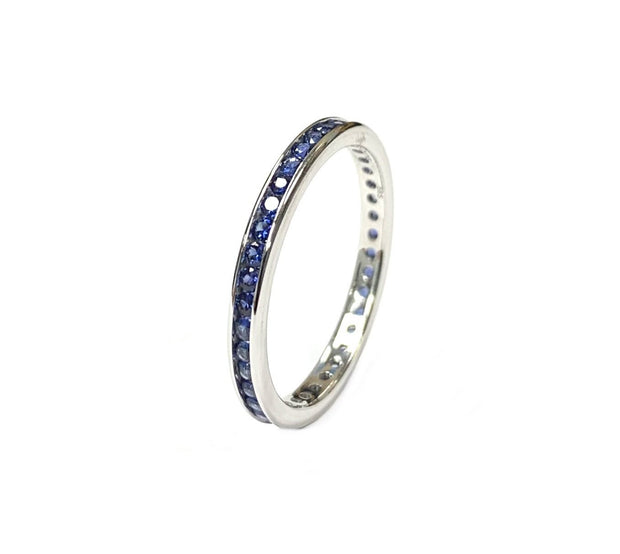 14kt White Gold Sapphire Eternity Band