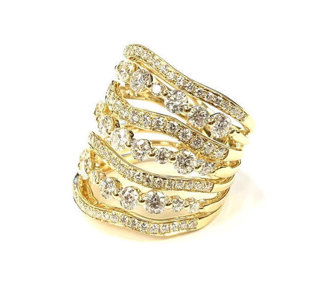 18KT Yellow Gold Diamond Fashion Ring