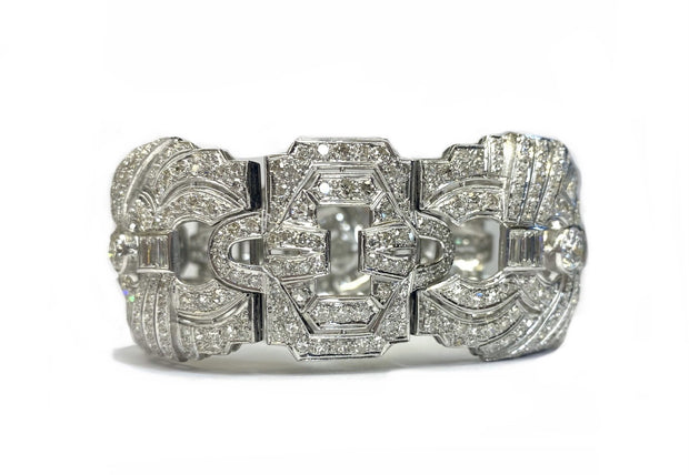 Platinum Art Deco Style Diamond Bracelet