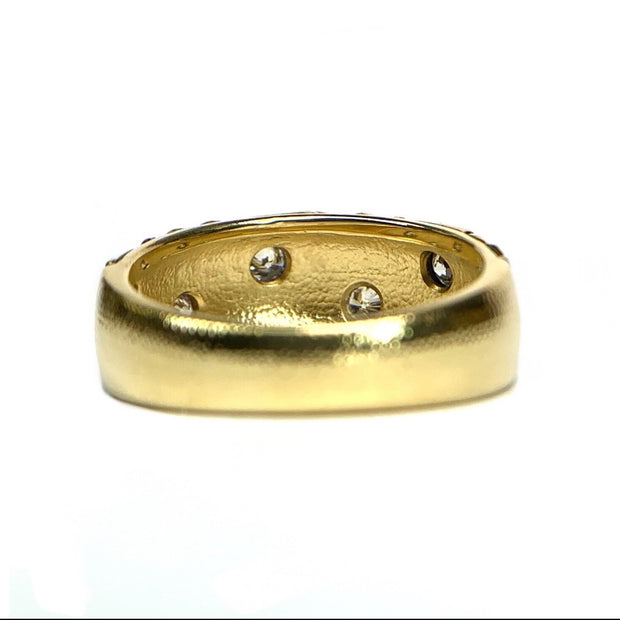 18K Yellow Gold 'Crowned Heads'  Ring by Alex Sepkus