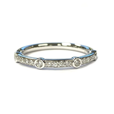 14K White Gold Diamond Band .20 ctw