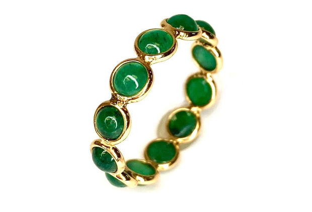 18K Yellow Gold Emerald Eternity Ring
