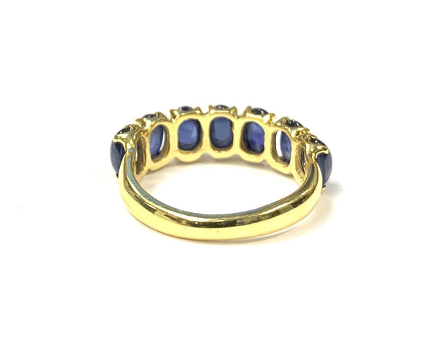 14K Yellow Gold Cabochon Sapphire Ring