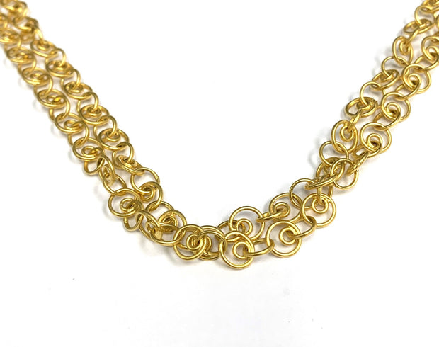 22K Gold Bonded Silver Necklace