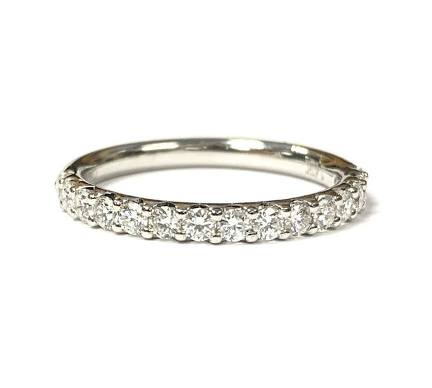 14K White Gold Diamond Band 0.51 ctw
