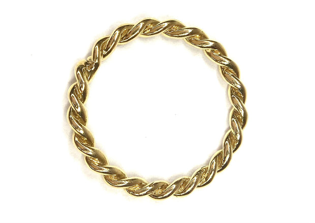 14K Yellow Gold Twisted Band