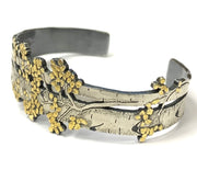 "Yellow Gold and Silver ""Aspen Adorn"" Bracelet by Wolfgang Vaatz"