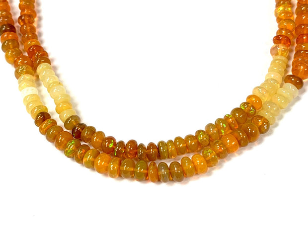 Ethiopian Fire Opal Bead Necklace by CWC