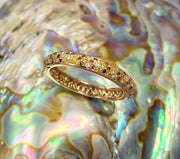 18K Rose Gold Multi-colored Diamond Band