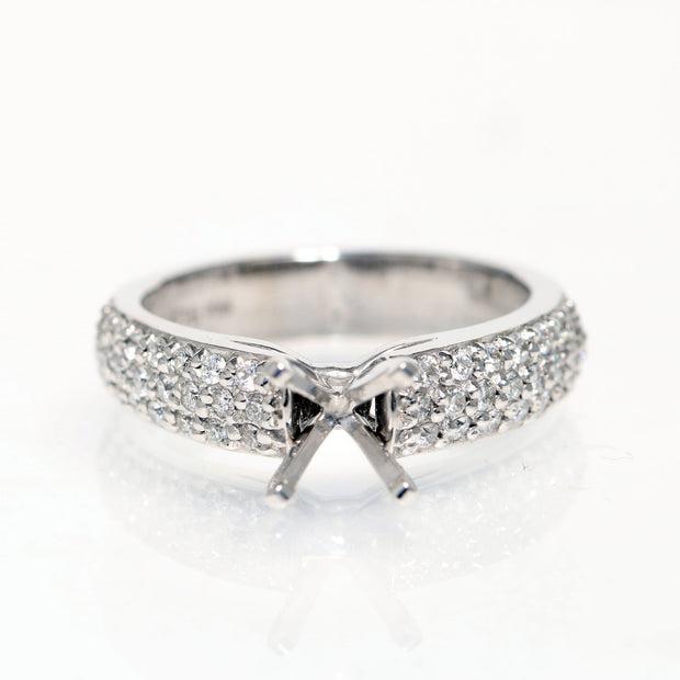 14kt White Gold Diamond Semi-Mounting