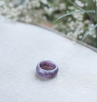 Amethyst Crystal Band Ring