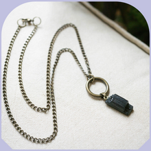 Load image into Gallery viewer, Unisex Black Tourmaline Necklace