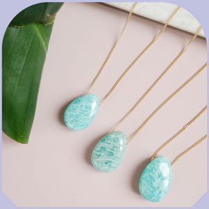 Collier Amazonite Roulée Or