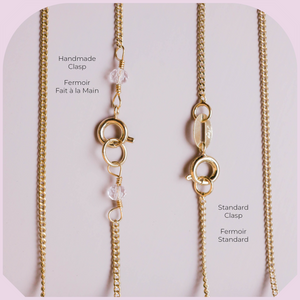 Collier Or Quartz Clair Brut