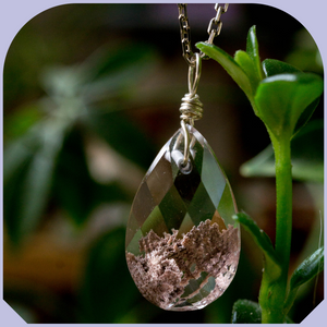 Collier Quartz Lapidé avec Inclusions