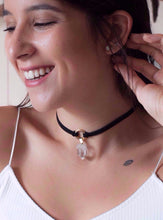 Load image into Gallery viewer, Choker Brown with Raw Crystal