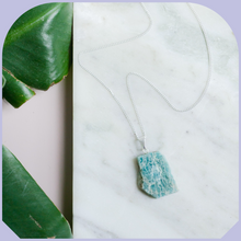 Load image into Gallery viewer, Raw Amazonite Silver Necklace