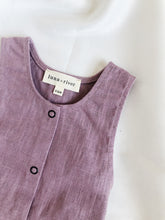 Hunter Sleeveless Play Suit in 100% Linen Lavender