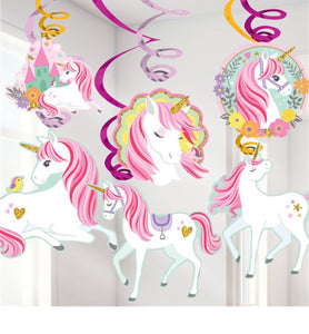 Unicorn Hanging Swirls