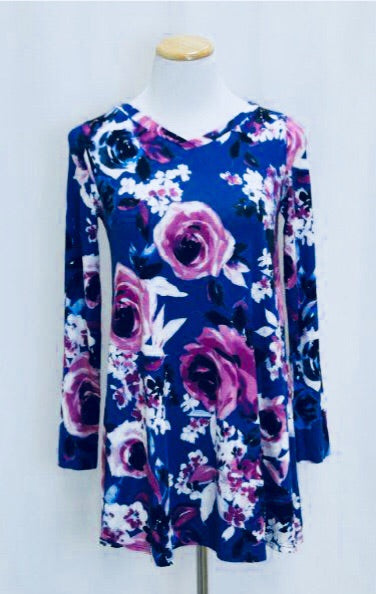 Floral Rose Tunic Top