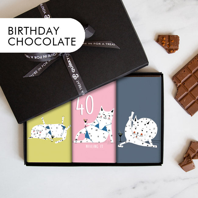 quirky birthday chocolate handmade in scotland
