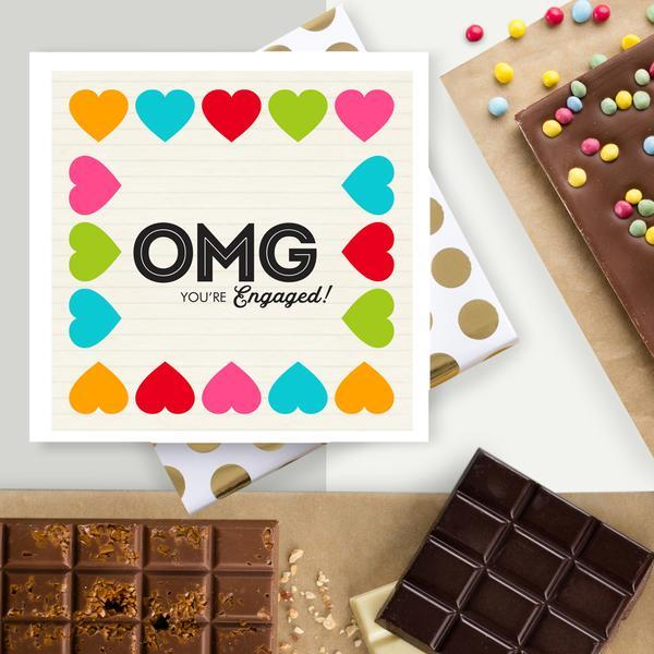 OMG You're Engaged! Chocolate Card