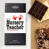 To My Nursery Teacher Chocolate Bar