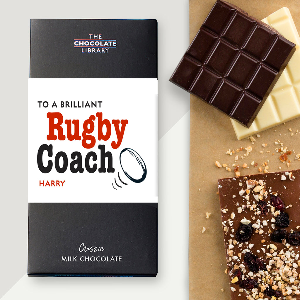 To A Brilliant Rugby Coach Chocolate Bar