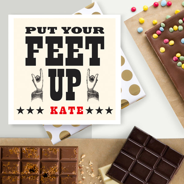 Put Your Feet Up Retirement Chocolate Card
