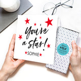 You're A Star! Chocolate Card