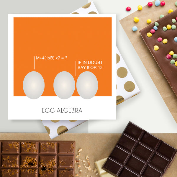 Egg Algebra Chocolate Easter Card
