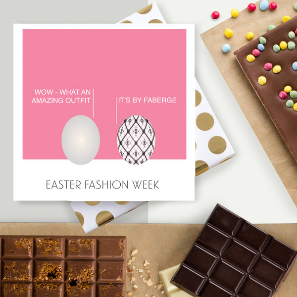 Easter Fashion Week Chocolate Card