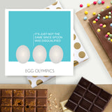 Egg Olympics Chocolate Easter Card
