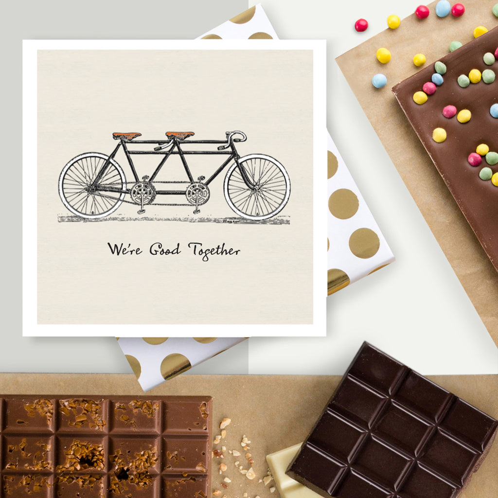 We're Great Together Valentines Chocolate Card