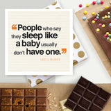 New Parents Funny Quote Chocolate Card