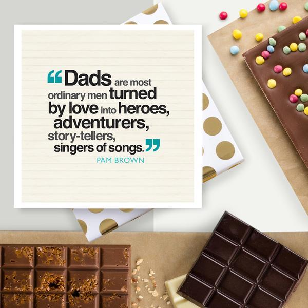 No Ordinary Dad Quote Chocolate Card