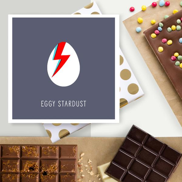 Eggy Stardust Chocolate Card