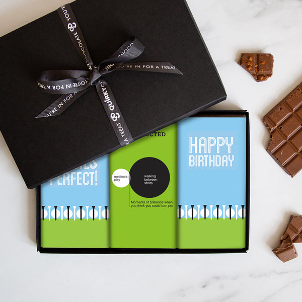 Golf Lovers Birthday Chocolate Gift Set