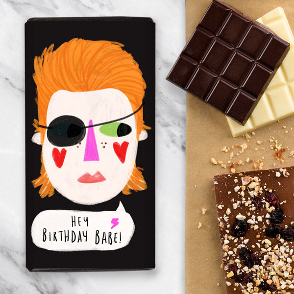 Bowie Birthday Gift Chocolate