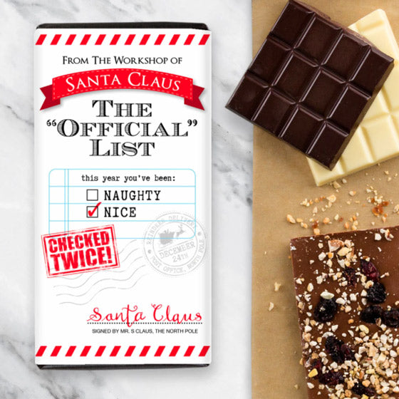 Santa's Nice List Chocolate