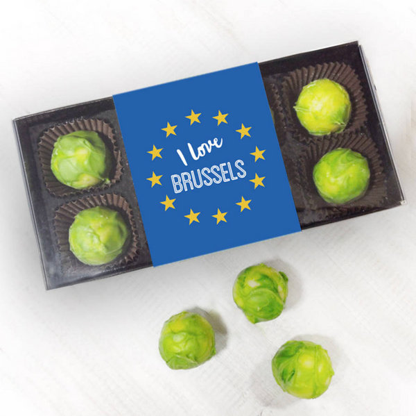 I Love Brussels! Party Political Chocolate Brussels Sprouts