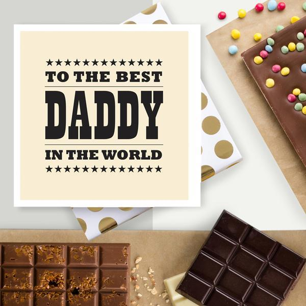 World's Best Daddy Chocolate Card