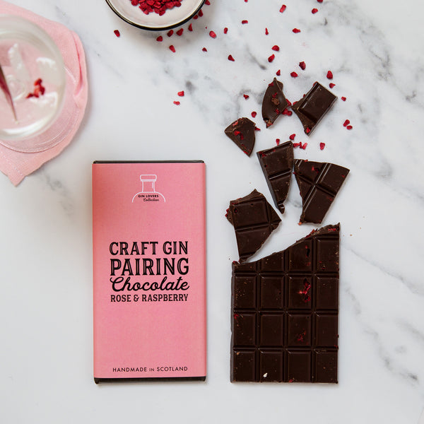 Gin Pairing Chocolate - Rose & Raspberry