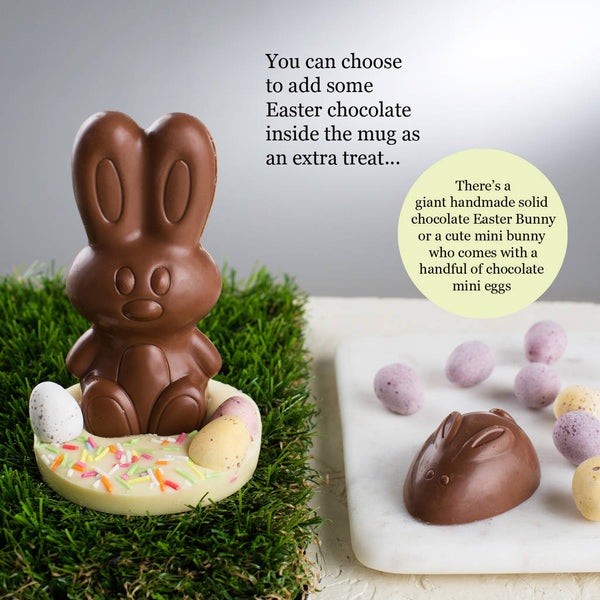 Chocolate Easter Bunny (goes inside Easter mug)