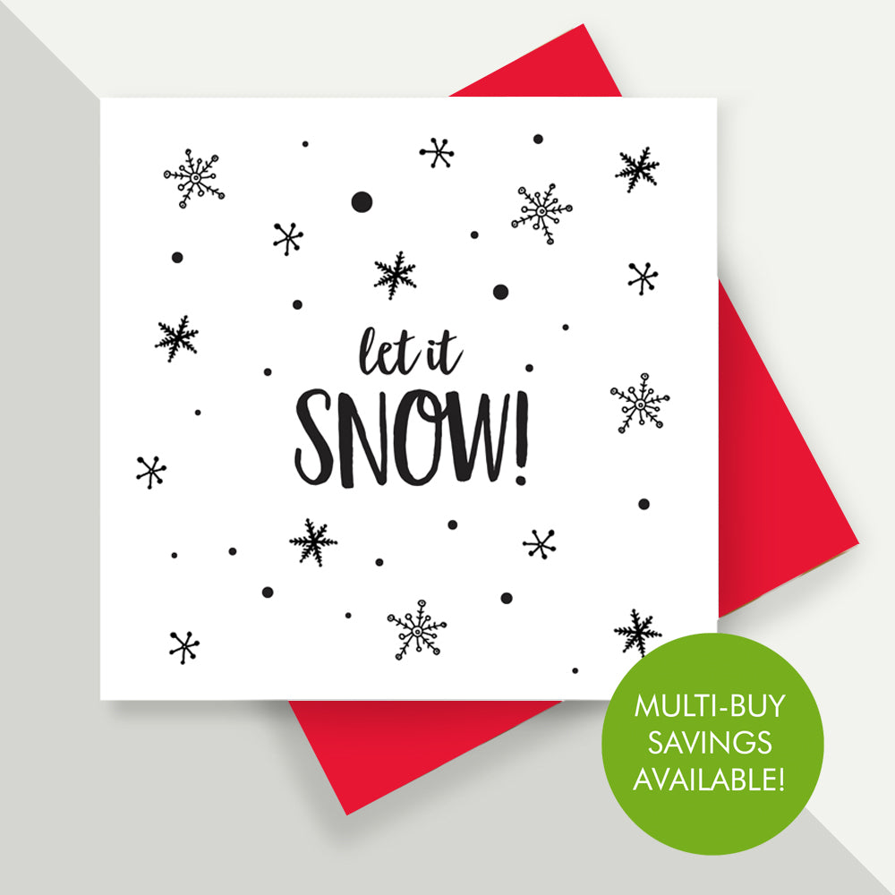 Christmas Card Packs - Let It Snow!