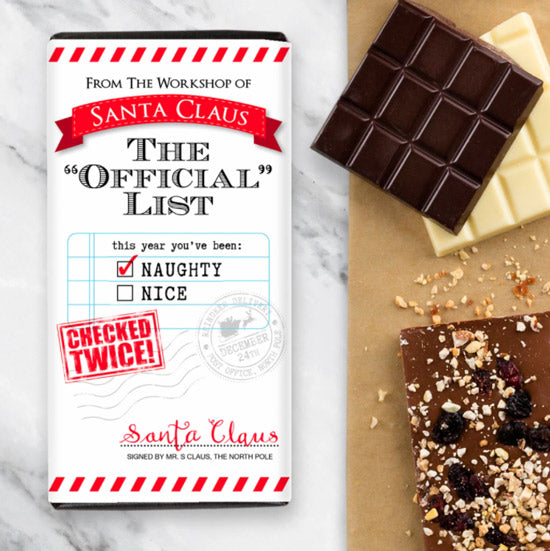 Santa's Naughty List Chocolate