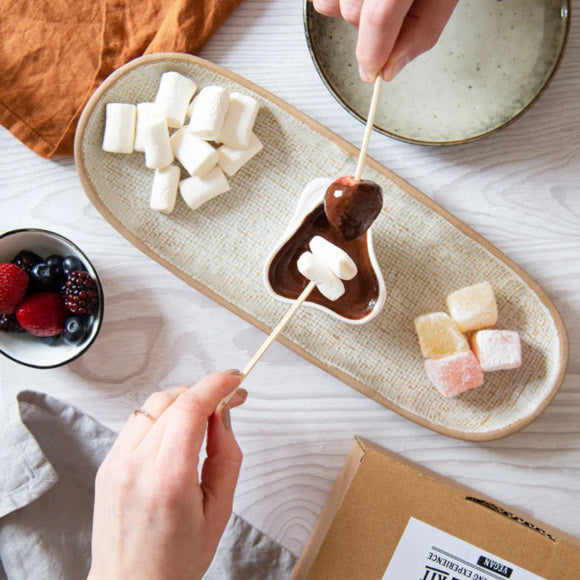 Vegan Chocolate Fondue Date Night Dipping Gift Set