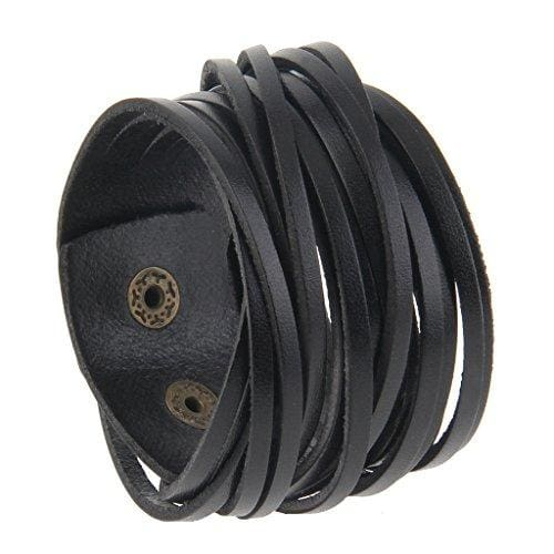 Black Multi-Layer Leather Bracelet