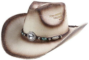 Classic Straw Hat With Wide Brim - Beige 2A