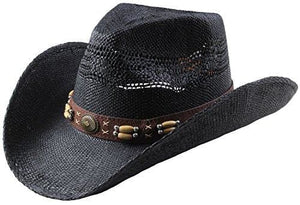Classic Straw Hat With Wide Brim - Black 2